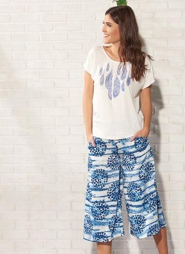 Gizzey Pijama Takım Ekru